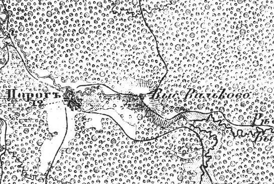 Выселок Вальково на трехверстной военно-топографической карте Федора Федоровича Шуберта, 1855 год.