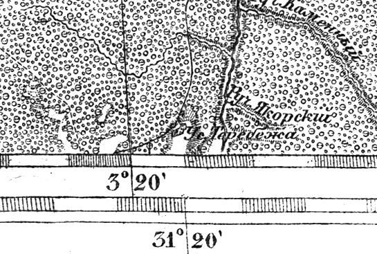Усадьба Теребежа (Теребежка) на трехверстной военно-топографической карте Федора Федоровича Шуберта, 1855 год.